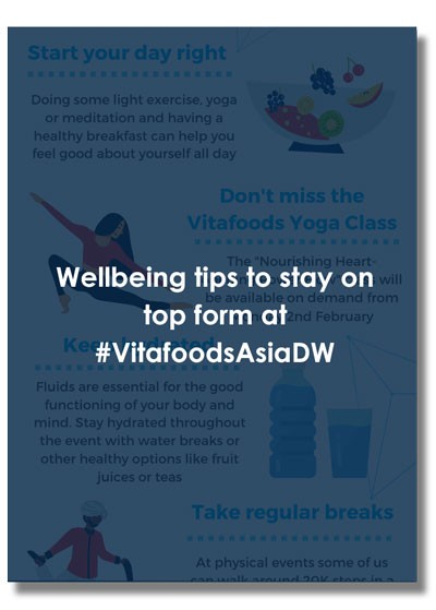 Download this pdf for wellbeing tips for attendees and exhibitors