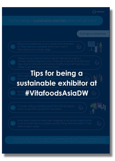 Download this pdf for tips for being a sustainable exhibitor