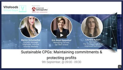 Access an on demand webinar on Sustainable CPGs Maintaining commitments and protecting profits