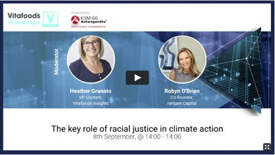 Access an on demand webinar about racial justice and climate action in the health and nutrition industry